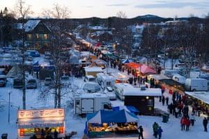 Sami Lapland: Winter fair, Jokkmokk, Norrbotten, Sweden