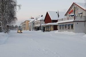 Sami Lapland: The center of the town Jokkmokk