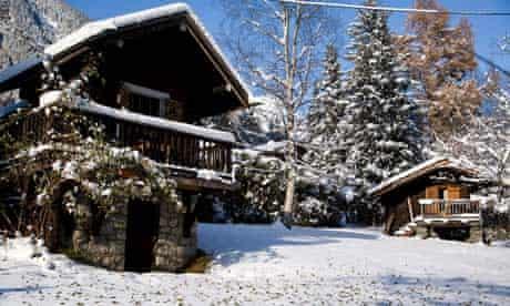 Stephen's Mazot hut (left) and Brigitte's Mazot in Chamonix