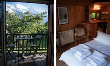 Brigitte's in summer and the mazot's interior