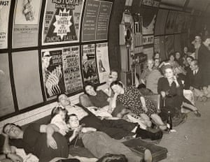 People sleeping on tube during second world war