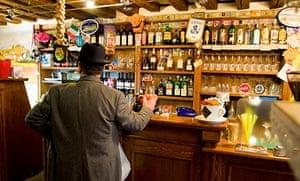 Enjoying a a spritz in a Venice bar