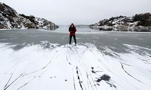 John at the edge of the ice