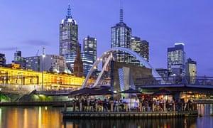 Melbourne's famous skyline