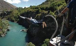 Get down … Kawarau Bridge, Queenstown, New Zealand.