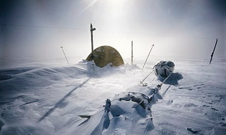 An overnight camping spot close to the South Pole