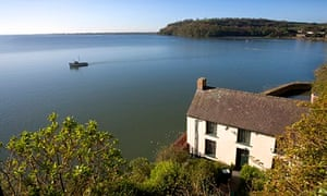 he Dylan Thomas boat house in Laugharne.