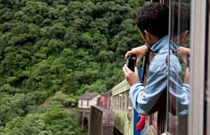 Curitiba is the starting point of the Serra Verde Express train through the Atlantic forest.