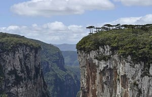 The dramatic Aparados da Serra, the largest (and greenest) canyons in Brazil, are great trekking are