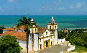Colonial catherdral in Olinda, neeighbouring city of Recife.
