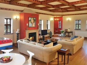 cool cottages devon: Tawstock Castle sitting room