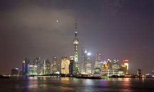 Pudong skyline at Huangpu River at night, Shanghai, China, Asia
