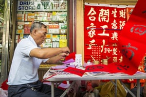 Chinese New Year 2013: Writing Chinese New Year greeting in Bangkok