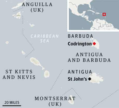 Barbuda map