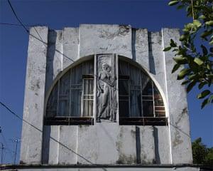 Havana art deco: Facade of Garcia Cabrera  house, Vedado, Havana