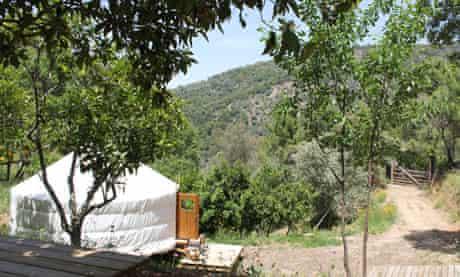 Woodland Yurt, and Orange Grove Yurt, Málaga, Andalucía