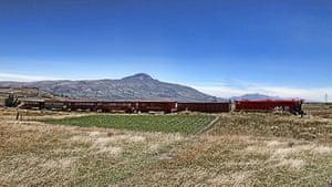 Ecuador train: The landscape between Quito and Latacunga