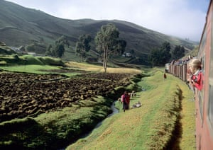 Ecuador train: Scenery from the train, Riobamba to Alausi, Ecuador