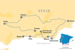 Map South Of Spain.Four Classic Road Trips In Spain And Portugal Travel The Guardian