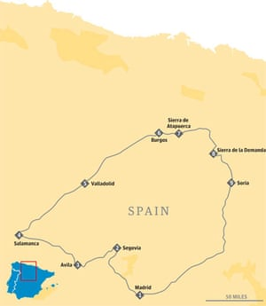 Map Of North West Spain.Four Classic Road Trips In Spain And Portugal Travel The Guardian