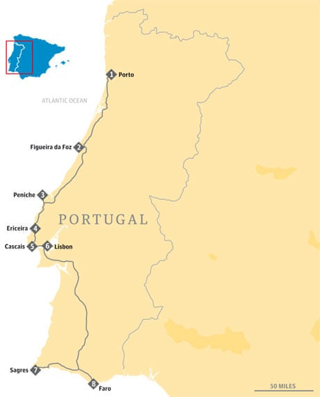Four Classic Road Trips In Spain And Portugal Travel The Guardian - Portugal map major cities