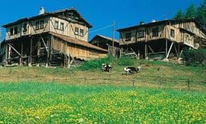 Architecture in Kure Mountains, Turkey.
