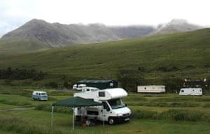 Glenbrittle campsite, Isle of Skye, Scotland