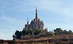 Jujol's Santuari de Montserrat, in Catalonia sits like a fairytale castle on a hill