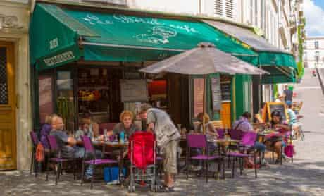 Street cafes in Montmartre.