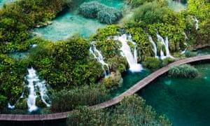 Lower Falls, Plitvice Lakes national park, Croatia.