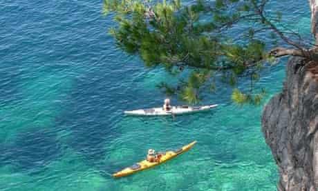 Sea kayaking off Kolocep, one of the most interesting of 13 Elafiti Islands