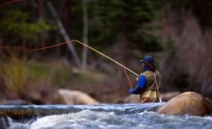 Fishing the Taylor river, Gunnison.