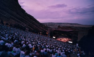 Watching concerts at Red Rocks Amphitheater in Morrison, Colorado