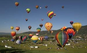 Hot air ballooning at Steamboat Springs, Colorado.