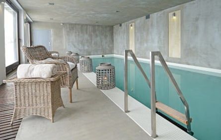 The pool at Villa Gella, a new luxury lodge in the Rhodope mountains