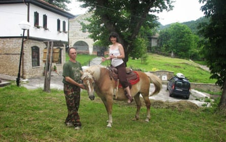 Horse riding at Bozhenski Chiflik guesthouse.