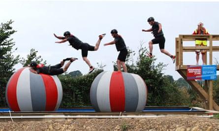 Total Wipeout course in Bideford, north Devon