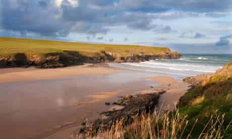 Polly Joke on the north Cornish coast between Crantock and Holywell Bay.