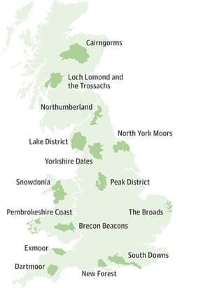 UK national parks maps