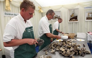 Dundrum Bay oysters at the Hillsborough Oyster Festival