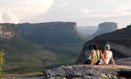Chapada Diamantina National Park, view from Pai Inacio onto the flat-topped or mesa