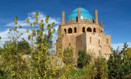 The Islamic monument of Soltaniyeh, one of the largest brick domes in the world