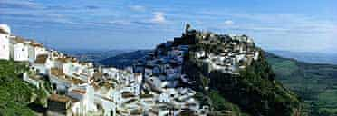 Hilltop town in Andalucia, Spain