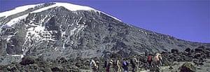 Trekkers on Mount Kilimanjaro