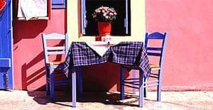 A Greek restaurant