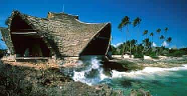 Palm-thatched eco-bungalows on Chumbe Island