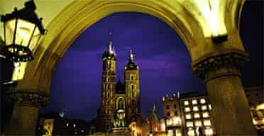 St Mary's Church and Krakow Central Plaza