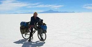 Alastair Humphreys in the Salar de Uyuni, Argentina