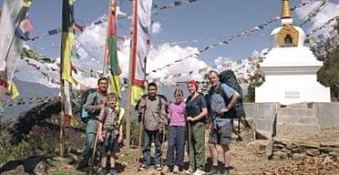 Scott family in Nepal