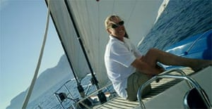 Flip Byrnes on the deck of one of the yachts she worked on